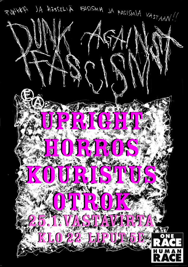 Punk against fascism, la 24.1. Vastavirta