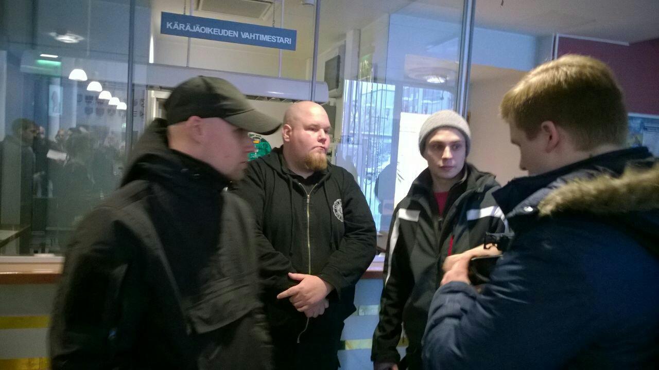 Vasemmalta: Cari Johannes Murto, xxx, Tomi Tiihonen, Juuso Tahvanainen. Jyväskylä, 2015.