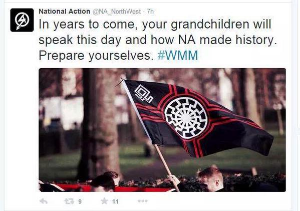 """Pari tuntia ennen kun natsit ajettiin löytötavaravarstoon NA tweettasi : """"Vuosikausia, lapsenlapsemme tulevat puhumaan tästä päivästä ja siitä kuinka teimme historiaa. Valmistautukaa."""