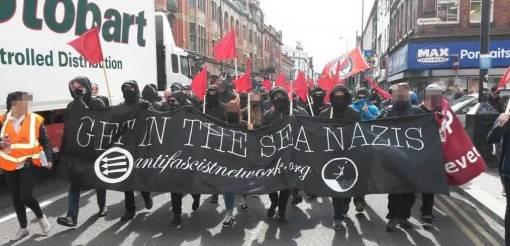 Antifasistien vastamobilisaatio Liverpoolissa 2015 oli menestys.