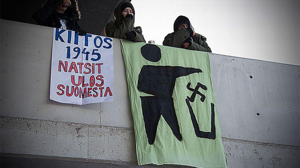 Natsit ulos vastamielenosoitus Kokkola 31.01.16