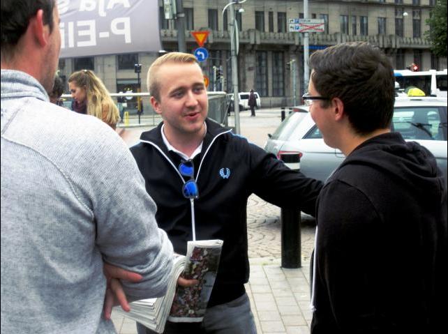 Oulu activist group leader Santeri Juhani Keränen.