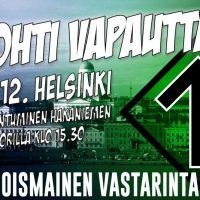 Pvl:n Kohti vapautta -mielenosoituksen kotisivu rekisteröity Jyväskylän kirjastopuukotuksen osallistujan nimiin