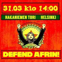 Helsinki: Mielenosoitus Afrinin tueksi
