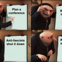 """""""Teidän olisi kannattanut pysyä YouTubessa"""": Voitto antifasisteille Generation Identityn konferenssin keskeydyttyä"""