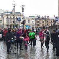 300 ihmistä marssi rasismia ja natsismia vastaan Tampereella