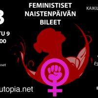 Oulu:  Feministiset naistenpäivän bileet!