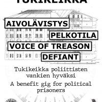 Tukikeikka poliittisten vankien hyväksi Lepakkomiehessä 11.9