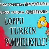 """Turku: """"Loppu Turkin hyökkäyksille!""""-mielenosoitus 21.6.2021"""
