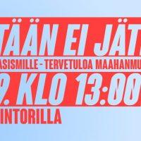 Helsinki: Ketään ei jätetä-mielenosoitus 25.9.2021